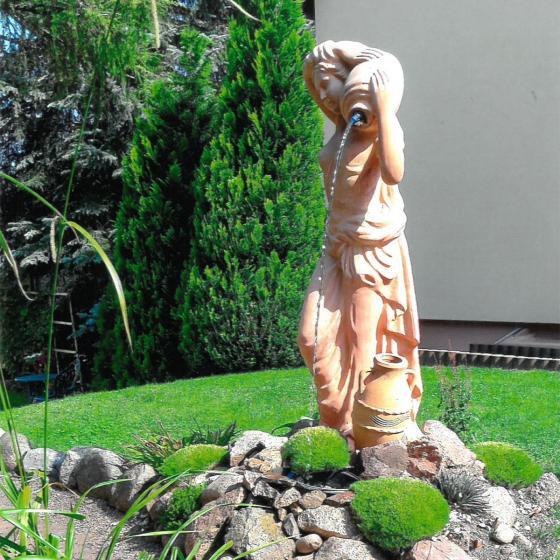 Terracotta Garten-Skulptur & Wasserspiel Athena | #3