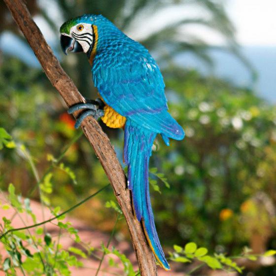Gartenfigur Papagei Lora | #3