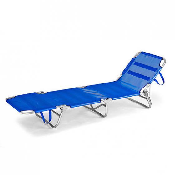 Tragbare Aluminium-Sonnenliege Rimini, blau | #3
