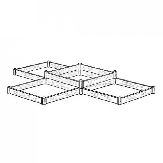 Hochbeet-erweiterbar, Akazienholz, natur, 80x80x40 cm | #3