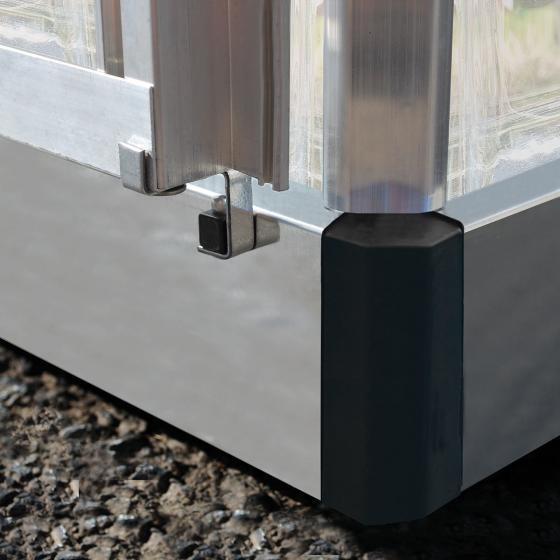 Palram Gewächshaus Inter Line 6 x 4 inkl. Stahlfundament, 125 x 185 x 209 cm, Aluminium, silber | #3