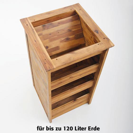 Hochbeet Kräuterturm aus Akazienholz, 50x50x95 cm | #3