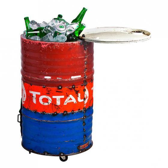 Eiskühler Tonne, Unikat aus recycelten Ölfässern | #4