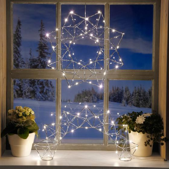 LED-Fensterleuchter Modern Christmas, 25 LEDs | #4