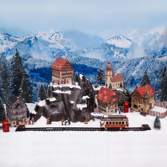 Miniatur-Weihnachtsdorf Lichthaus Dorfkirche | #4
