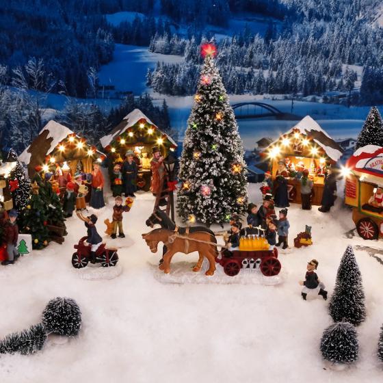 Miniatur-LED-Markt-Stand Weihnachtsdeko | #4