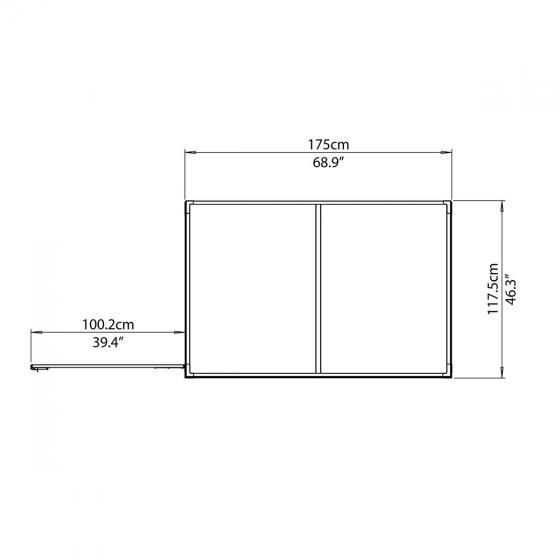SkyLight Anlehn-Gartenschuppen 4x6, grau | #4