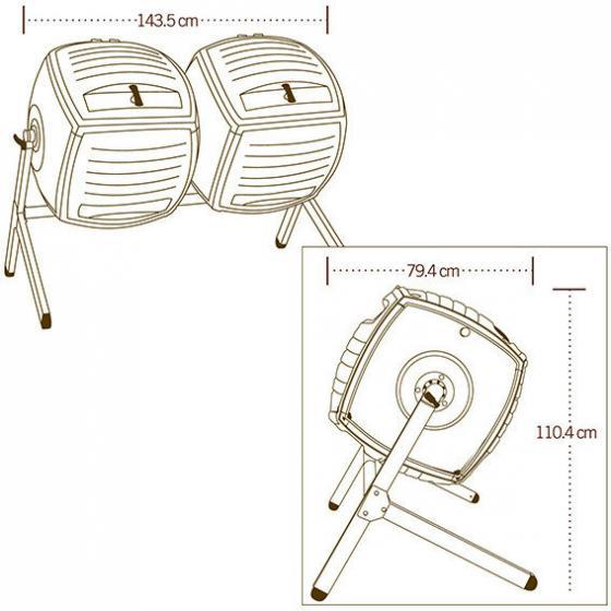 Lifetime Trommelkomposter Kompost-Zwilling, 380 L | #4