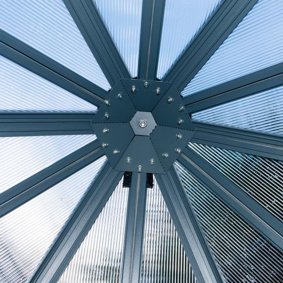 Gewächshaus Oasis Hexagonal, 247 x 247 x 225 cm, Alumium, anthrazit | #4
