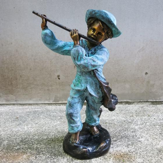 Bronzefigur Flöten-Philip | #4