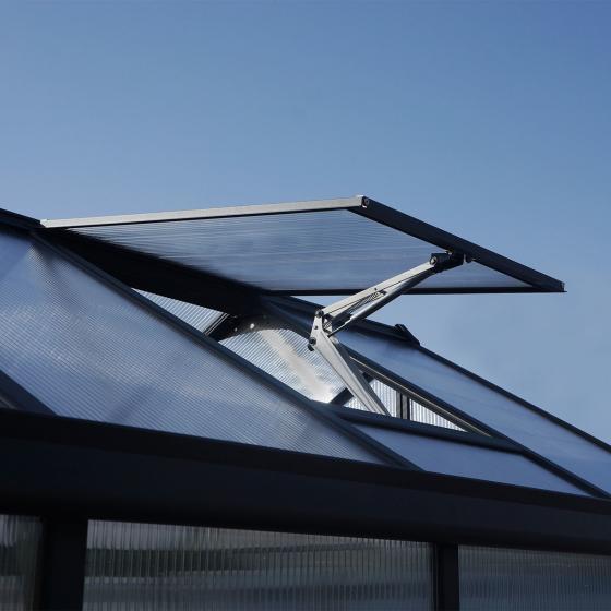 Palram Gewächshaus Glory 8 x 16' inkl. Stahlfundament u. Zubehör, 483,5 x 244,5 x 268,5 cm, anthrazit | #4