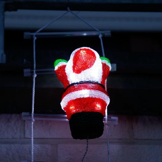 LED-Weihnachtsmann-Trio auf Leiter | #4