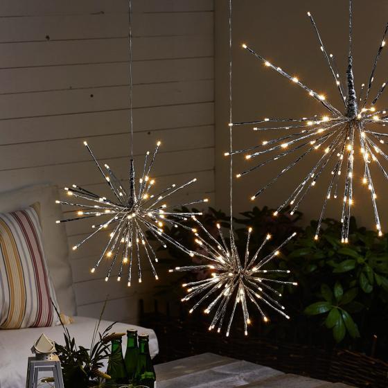 Star LED-Leuchtstern Winter-Feuerwerk, 40 cm, Metall und Kunststoff, silber | #4