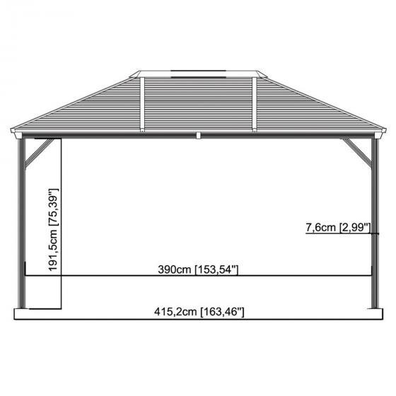 Pavillon Ventura 10x14, 261x423x296 cm | #4