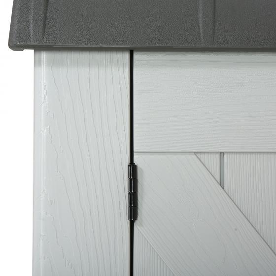 Gerätebox-Mülltonnenbox, 132x191x108 cm, grau | #4