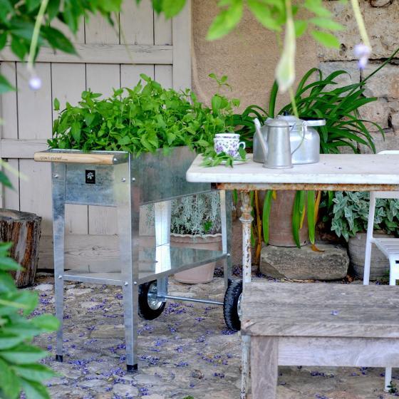 Hochbeet Urban Garden mit Rädern, silber, 75x35x80 cm | #4
