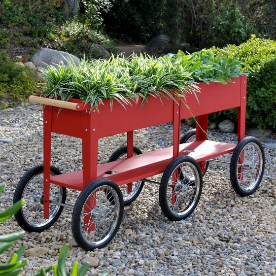 Hochbeet Urban Garden Wheels, rot, 150x35x80 cm | #4