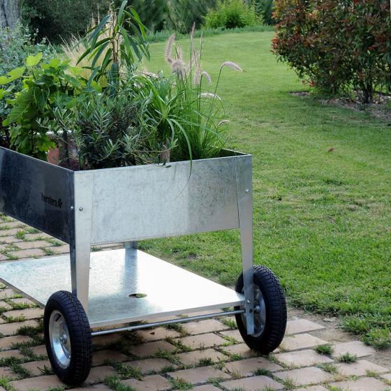 Hochbeet Garden Swivel, silber, 120x60x80 cm | #4
