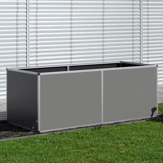 KGT Aluminium-Hochbeet 210, anthrazit /silber, 205x91x77 cm | #4