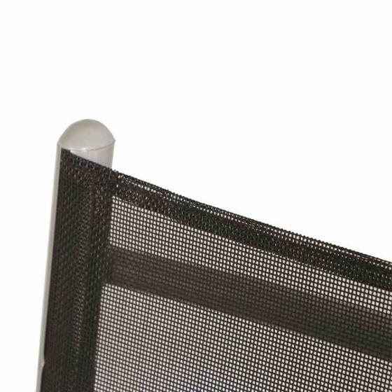 Gardamo Klappsessel 2er-Set Saturn, 105x56x67 cm, silber schwarz | #4