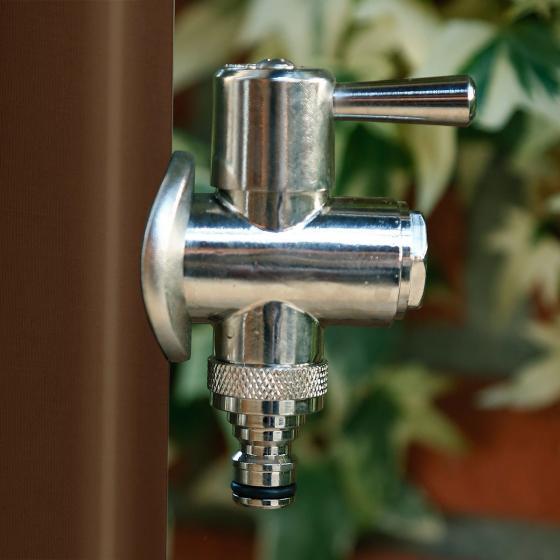 Wasserzapfsäule Tondo, 100x14x21 cm, Stahl, braun | #4