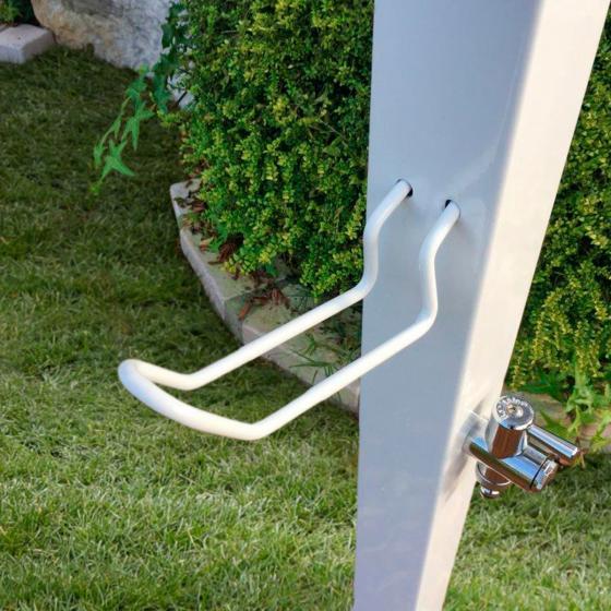 Wasserzapfsäule Quadra, 100x14x21 cm, Stahl, weiß | #4