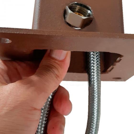 Überirdischer Flexischlauch für Wassersäule Tondo, Quadra und Silverline, 47x7x2,5 cm, Stahl | #4