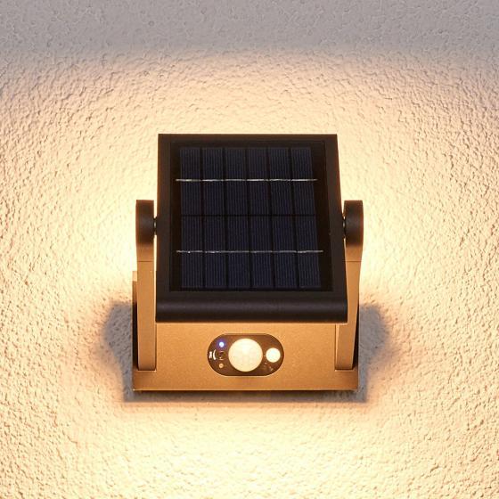 Solar-LED-Außenwandleuchte Valerian mit Bewegungsmelder, 16x23,3x15,2 cm, Aluminium, grau | #4