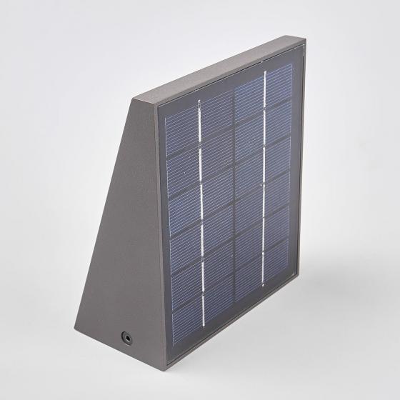 Solar-LED-Außenwandleuchte Felin mit Bewegungsmelder, 6,6x12,5x14,5 cm, Aluminium, grau | #4