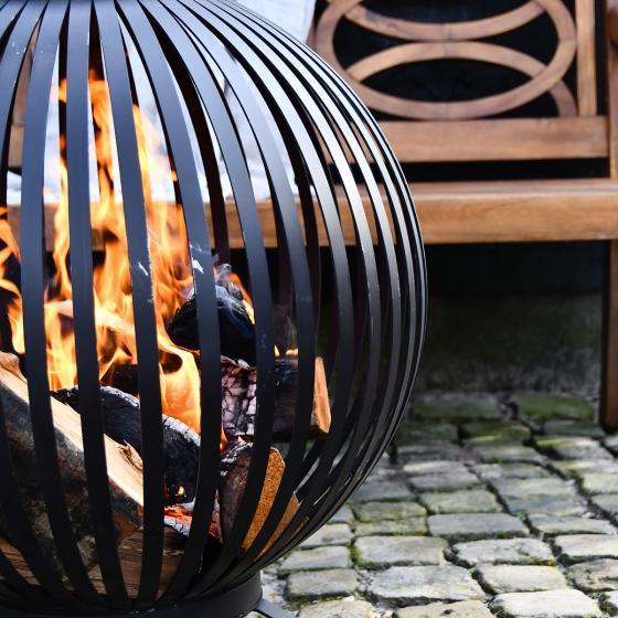 Feuerball Starlight, 74x59x59 cm, Karbonstahl, schwarz | #4
