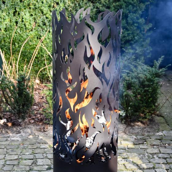 Flammentower Spector, 118x39x39 cm, Karbonstahl, schwarz | #4
