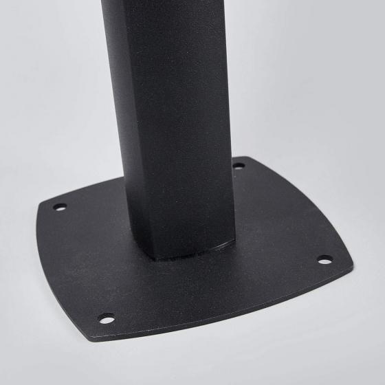 Solar-Wegeleuchte Henk mit Bewegungsmelder, 65,5x18x19 cm, Aluminium, schwarz | #4