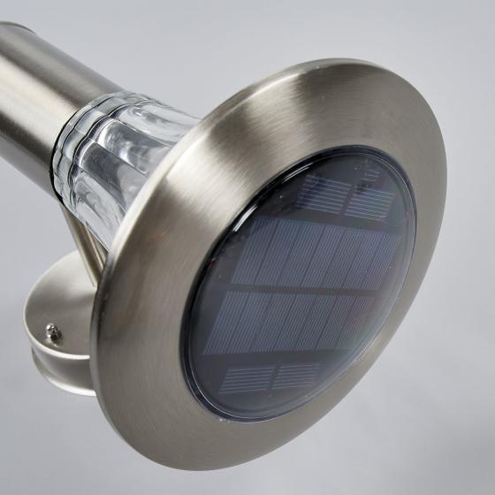 Solar-LED-Außenwandleuchte Eileen, 25x17x23 cm, Edelstahl, silber | #4