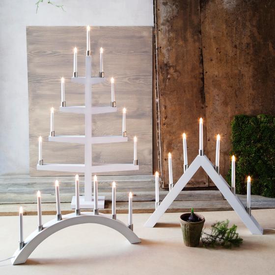 LED-Fensterleuchter Tall A, 66x63x7 cm, Holz, weiß | #4