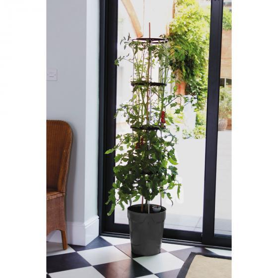 Tomaten-Pflanzturm Grow Tower, Durchmesser 28 cm, H 32 cm, Stütze 120 cm, anthrazit | #4