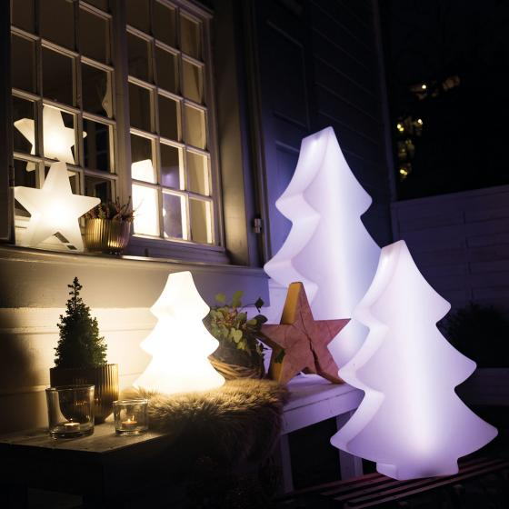 8 Season LED Shining Tree, 39x28x10 cm, Polyethylen, weiß | #4