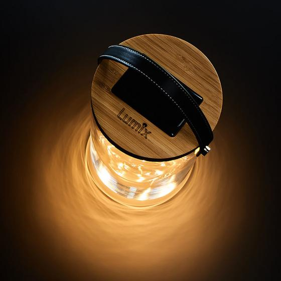 Krinner Lumix Deco Glas Long, 25,5x14,5x14,5 cm, Glas, Bambus, klar | #4