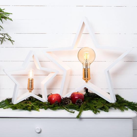 Star Holzstern Lysekil, 30x28x5 cm, Holz, weiß | #4