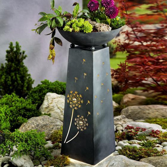Pflanzsäule Pusteblume, mit LED-Beleuchtung & Timer, 70 cm, Ø 34 cm, anthrazit | #4