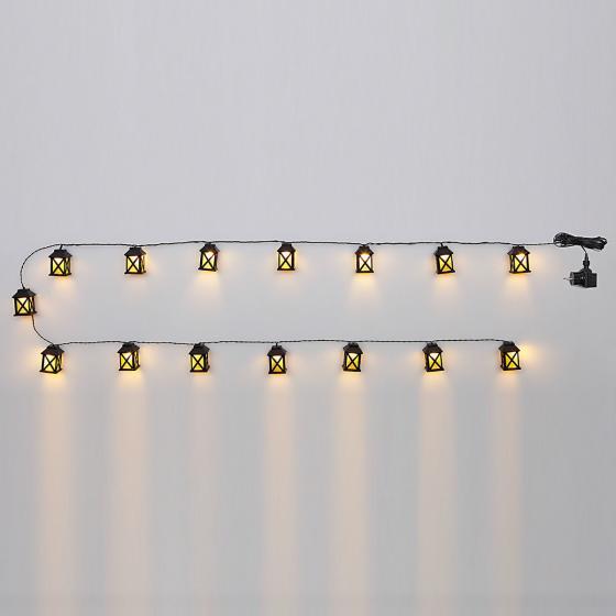 LED-Lichterkette Laterna, 15 Laternen, 280 cm, Zuleistung 5 m, Kunststoff | #4