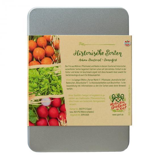 Gemüse Anzuchtset inkl. 3 Stecketiketten - Möhre, Salat, Radies | #4