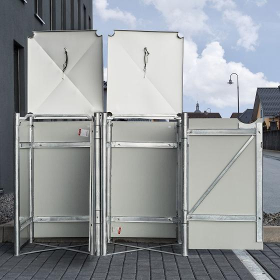 Mülltonnenbox 140l Kunststoff, 2er Box, schwarz | #4