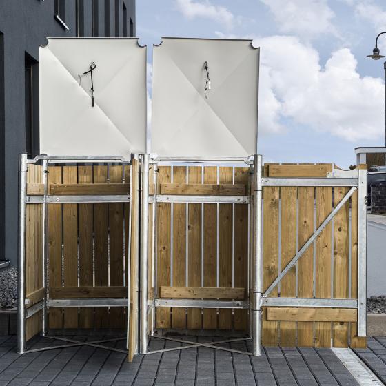 Mülltonnenbox 140l Holz, 2er Box, Natur | #4