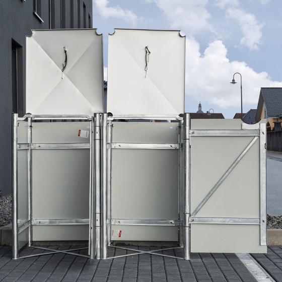 Mülltonnenbox 240l Kunststoff, 2er Box, schwarz | #4