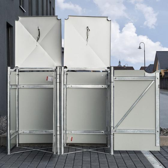 Mülltonnenbox 240l Kunststoff, 2er Box, grau | #4