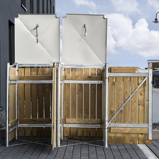 Mülltonnenbox 240l Holz, 2er Box, Natur | #4