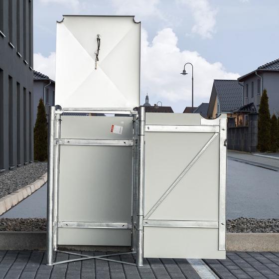 Mülltonnenbox 240l Kunststoff, 1er Box, grau | #4