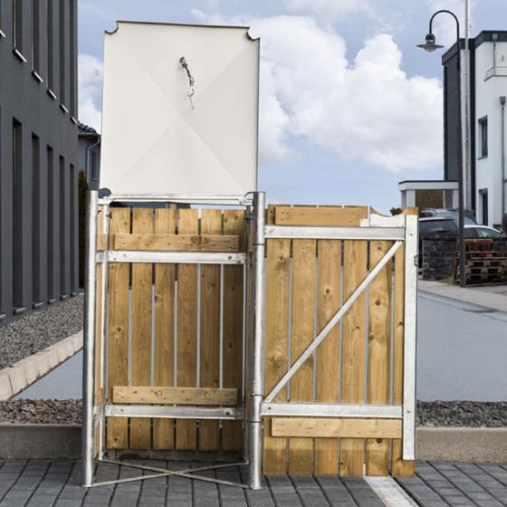 Mülltonnenbox 140l Holz, 1er Box, Natur | #4