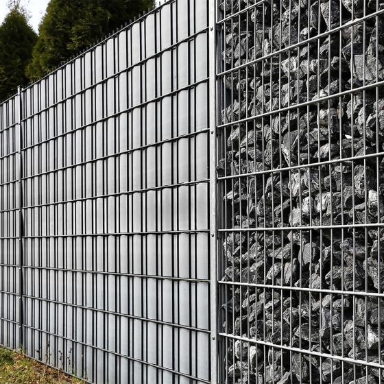 PVC Sichtschutz Zaunfolie hellgrau | #4