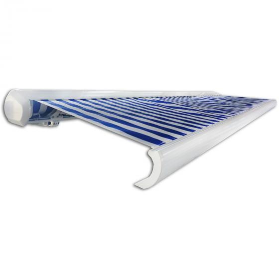 Vollelektrische Kassettenmarkise Elos V2 marineblau-weiß 350 x 250 cm inkl. Windsensor | #4